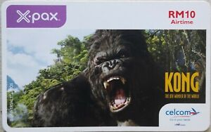 Malaysia-Used-Celcom-X-pax-Recharge-Card-KONG-soft-card