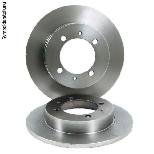Beläge hinten Mazda 6 GG GY 1.4-2.3 Premacy CP 1.9 2.0 Bremsscheiben Ø280mm