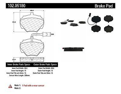 Centric Parts 102.05630 102 Series Semi Metallic Standard Brake Pad