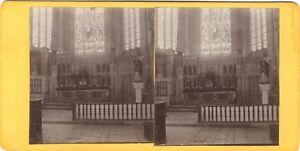 Chiesa Oiron Deux-Sèvres Francia Foto Stereo Vintage Citrato c1900