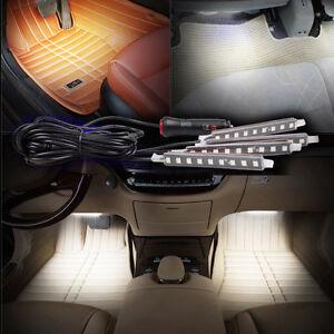 36led White Car Interior Atmosphere Light Footwell Cigarette Lighter Decor Light Ebay