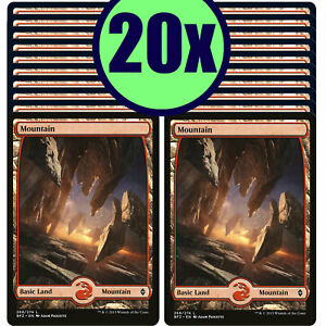 20x MOUNTAIN 268 Full Art Basic Land NM/LP MTG Magic Battle for Zendikar