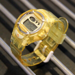 Women-039-s-CASIO-Light-Yellow-Baby-G-Ladies-watch-BG-169A-Excellent-Condition