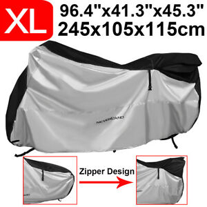 XL-Heavy-Duty-Waterproof-Motorcycle-Motorbike-Cover-Outdoor-Protector-w-Zipper