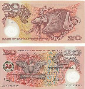 Papua-New-Guinea-Guinea-20-Kina-2003-UNC-Pick-27-Commemoration-issue
