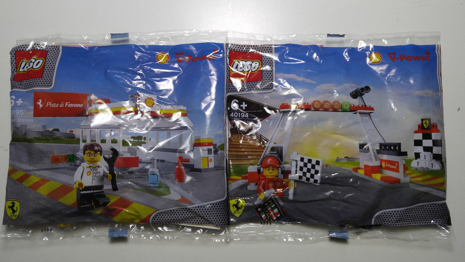 Shell LEGO Collection Ferrari - 40190 40191 40192 40193 40193 40193 40194 40195 40196 4c8884