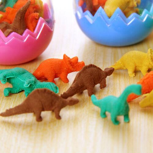 8pcs Dinosaurs Egg Pencil Rubber Eraser Students Office Stationery Kid Toy FRKCA