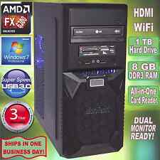 AMD FX 6300 4.1GHz Turbo 6-Core Desktop PC~8GB DDR3~1 TB HDD~HDMI~Win 7 Pro