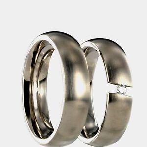 2 Titan Partnerringe Eheringe Trauringe Verlobungsringe mit  Innengravur 22P102