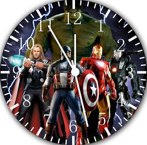 """Avengers Horloge Murale 10"""" Sera Beau Cadeau Et Room Wall Decor E44-afficher Le Titre D'origine Facile à Lubrifier"""