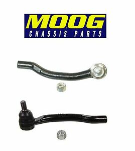 For Acura TSX Honda Accord Set of 2 Front Outer Left /& Right Tie Rod Ends Moog