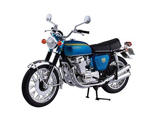 Aoshima Skynet 04316 Honda CB750FOUR (K0) Candy bluee 1 12 Scale Finished Model