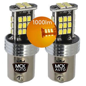 P21W-Amber-Orange-LED-Canbus-Bulbs-Indicator-Turn-Signal-Front-Rear-BA15s-1156