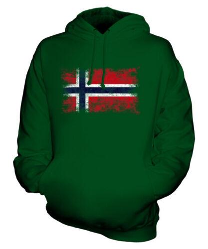 Noruega Bandera Apenada Sudadera Capucha Unisex Top Noreg Noruego Norge Fútbol