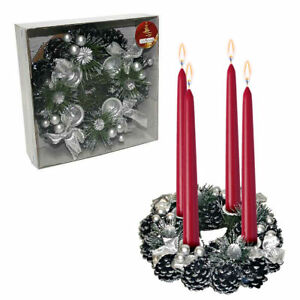 Decorazioni Artigianali Natalizie.Centrotavola Portacandele Natale Decorazione Natalizia Artigianale