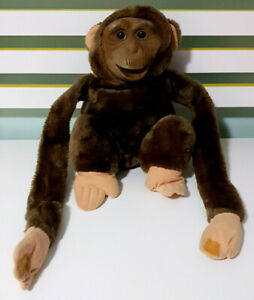 Hosung-Monkey-90s-Plush-Toy-Hand-Puppet-w-Hook-amp-Loop-Fasteners-26cm-Tall