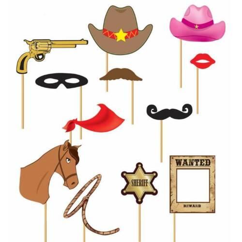 Cowboy fête photo booth props Western Rodeo mariage anniversaire robe fantaisie