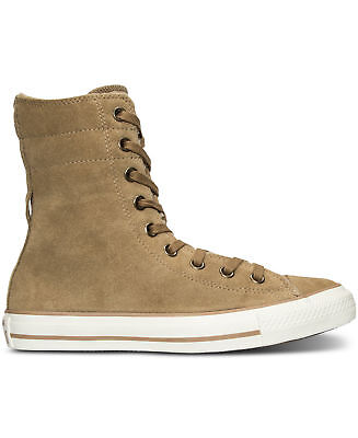 Converse Women's Chuck Taylor All Star Hi Rise Suede Plus Shearling X Sand Dune | eBay