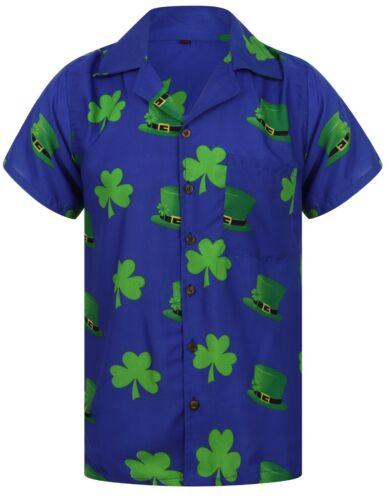 ST SAINT PATRICKS DAY HAWAIIAN SHIRT LOUD MENS HAWAII STAG PARTY BEER IRISH UK