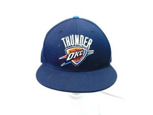NBA-OKC-Oklahoma-City-Thunder-Hat-7-3-8-Mitchell-amp-Ness-Blue-Stitched-Fitted-Cap