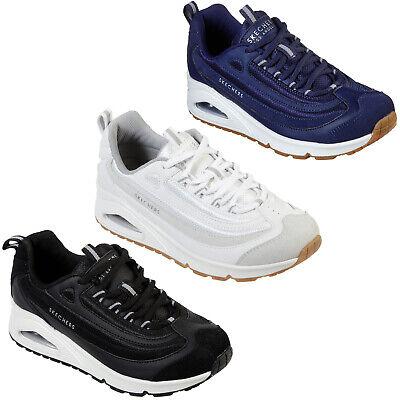 Skechers Uno Roundabout Baskets 73678 Femmes Daim Maille Lacet Max Air Shoes   eBay