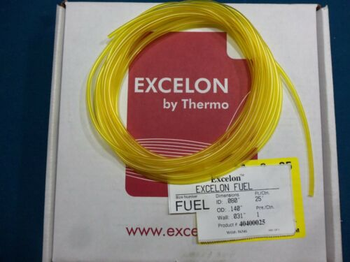 TYGON Equal EXCELON Yellow Fuel Line .08 X.140 Craftsman,Weedeater,etc. 1 Ft