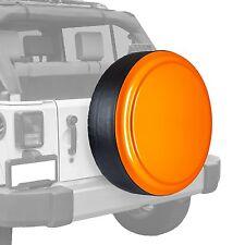 Boomerang-Painted Rigid Tire Cover - Jeep Wrangler - Orange Crush
