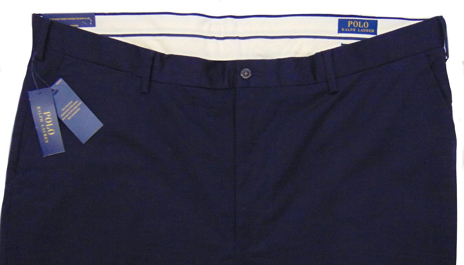 Men's POLO RALPH LAUREN Navy bluee Pants 50x32 50Bx32 NEW NWT Stretch Classic Fit