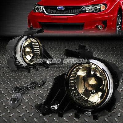 Smoke Fog Light Bumper Lamps w//Switch+Harness+Bezel for 08-11 Subaru Impreza//WRX