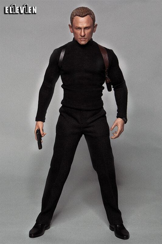 Eleven 1 6 Scale 007 Spectre Daniel Craig Costume Costume Costume Set For Hot Toys Figure Body 26f1ba