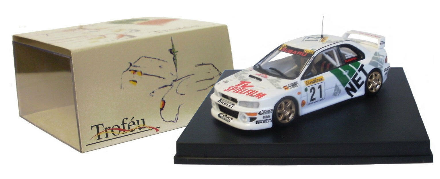 Trofeu 1106 SUBARU IMPREZA WRC RALLYE d'Allemagne champion 1998-un Kremer, échelle 1 43,