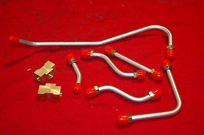 NEW 1969-70  FUEL LINE KIT MOPAR 440 SIX PACK 8PC OEM MATERIAL PUMP TO CARBS