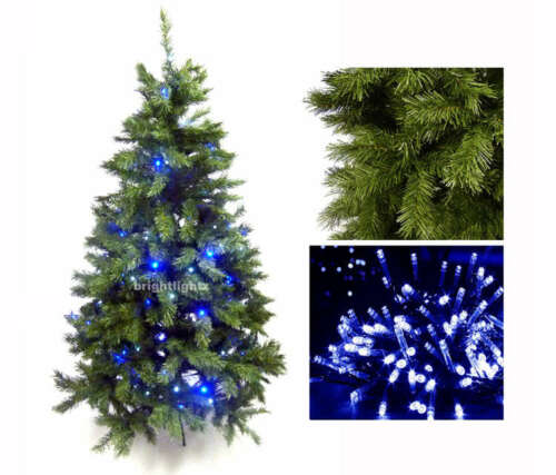 FAIRY LIGHTS 180CM GREEN ARTIFICIAL CHRISTMAS XMAS TREE HINGED BRANCHES 6FT