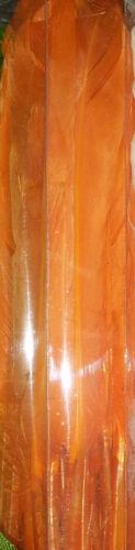 90 Hühnerfedern Federn Gefärbte Orange 13 cm lang Federkiel Huhn Ostern Fasching