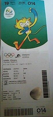 Rio 2016 Ticket M 19/8/2016 Olympic Games Rio Final Athletics # O14 To Invigorate Health Effectively
