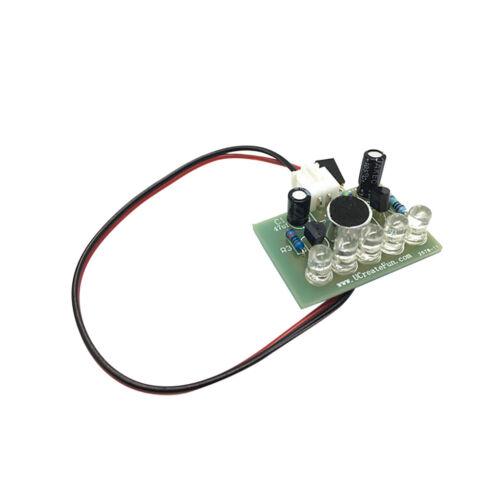 Sound Aktiviert Hohe Helligkeit Blaue LED Flasher DIY Electronic Cable Kit