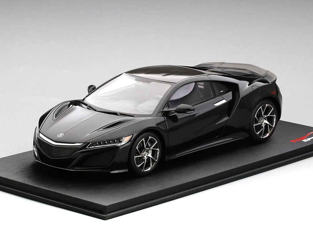 1:18 Scale Scale Scale Acura Honda NSX Noir 2016 Top Speed TrueScale TSM MODEL TSM0016 NEUF | Belle Couleur  a6090c