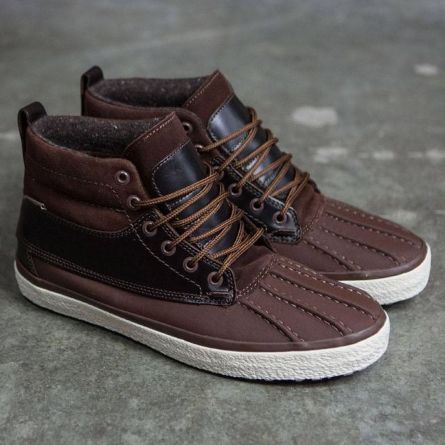 Vans Off the Wall Sk8 Hi MTE Brown Del Pato Stivali Shoes Uomo 7.5 Donna 9