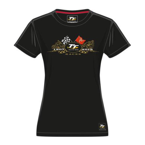 Officiel 2018 Isle of Man TT or Vélos femme t/'shirt 18LTS2