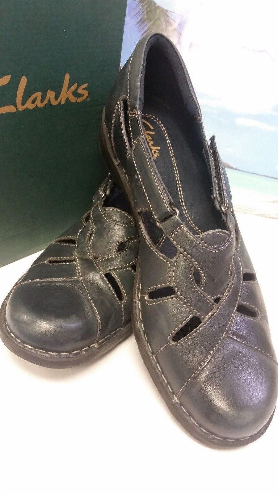 Clark's femme 10 M Bendables chaussures Confort 10 B Réglable Antidérapant Semelle excellent état utilisé