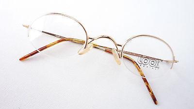 Occhiali Da Insegnanti Superiore Parte Senza Bordi Piccolo Ovale In Metallo Versione Oro Telaio Size M-mostra Il Titolo Originale Aspetto Elegante