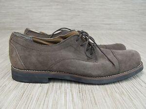 30fc55d1d9c9 Tommy Hilfiger Brown Suede Leather Oxford Shoes Men s Size 12 M Lace ...