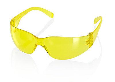 100 X B Brand Ancona Leichtgewicht Sicherheitsbrillen/brille Gelbe Gläser