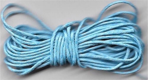 choose colour 6m length of waxed cotton cord for jewellery making and crafts