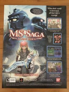 MS-Saga-A-New-Dawn-PS2-Playstation-2-2006-Vintage-Poster-Ad-Art-Print-RPG-RARE