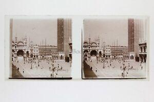 Venezia-Italia-Foto-Amateur-Placca-Da-Lente-N12-Stereo-Ca-1920