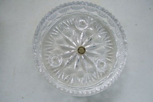 "Princess House USA Exclusive 24% Lead Crystal 3 Taper Candle Holder 6"" Across"