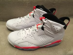 huge selection of c8a18 8512a Image is loading AIR-JORDAN-6-RETRO-384664-123-WHITE-INFRARED-