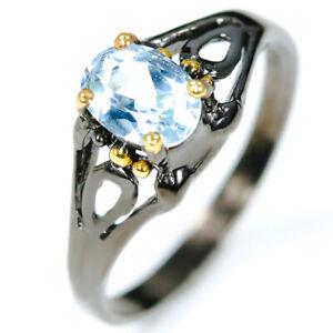 925-Sterling-Silver-Ring-Fashion-women-Design-Natural-Blue-Topaz-RVS316