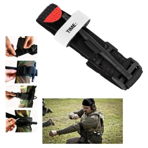 Black Tourniquet Buckle First Aid Medical Tool Emergency Injury One-handed New